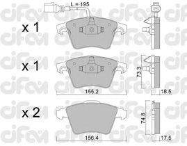 Тормозные колодки CIFAM 822-552-1