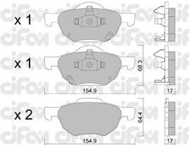 Тормозные колодки CIFAM 822-730-0