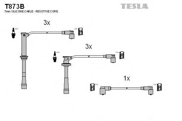 Комплект высоковольтных проводов TESLA T873B