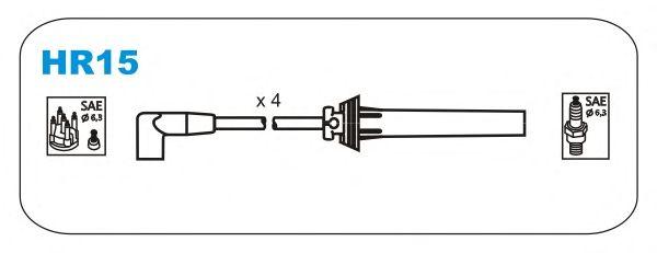 Комплект высоковольтных проводов JANMOR HR15