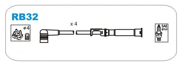 Комплект высоковольтных проводов JANMOR RB32