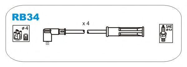 Комплект высоковольтных проводов JANMOR RB34