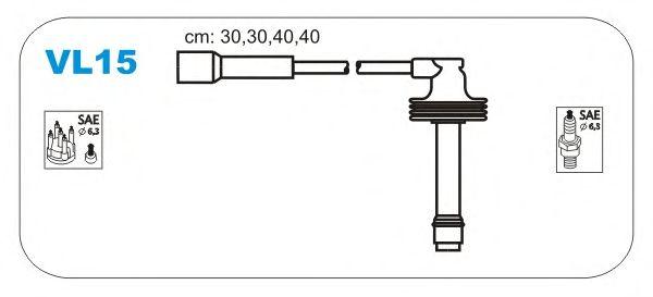 Комплект высоковольтных проводов JANMOR VL15