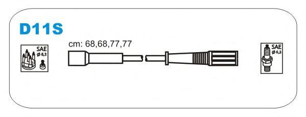 Комплект высоковольтных проводов JANMOR D11S.P