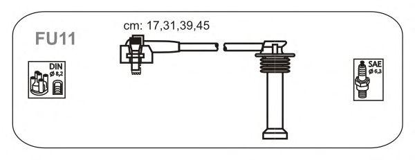 Комплект высоковольтных проводов JANMOR FU11