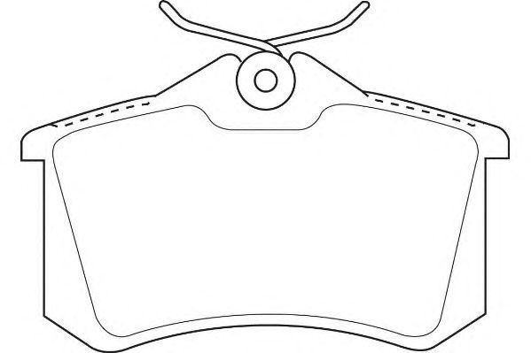 Тормозные колодки WAGNER WBP20961C
