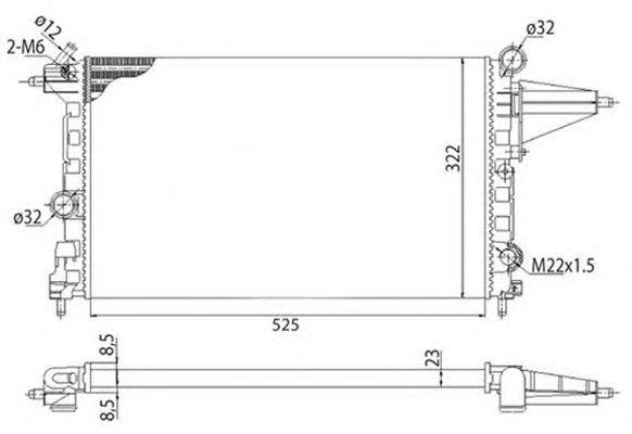 Радиатор, охлаждение двигателя MAGNETI MARELLI 350213501003