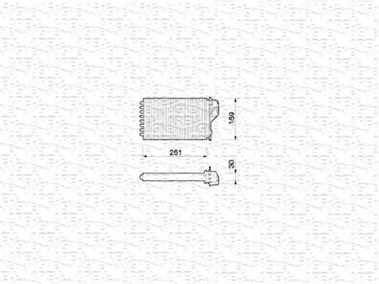 Радиатор отопителя MAGNETI MARELLI 350218202000