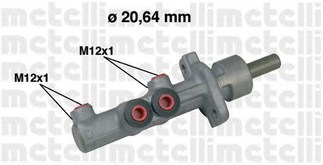 Главный тормозной цилиндр METELLI 05-0493