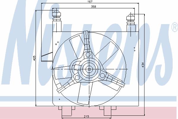 Вентилятор охлаждения NISSENS 85056