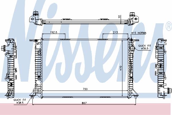 Радиатор, охлаждение двигателя NISSENS 60319