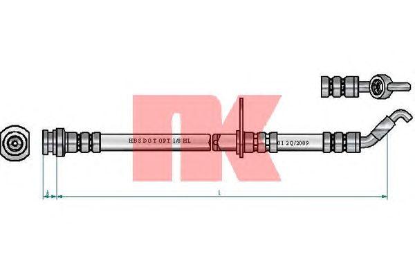 Тормозной шланг NK 855230