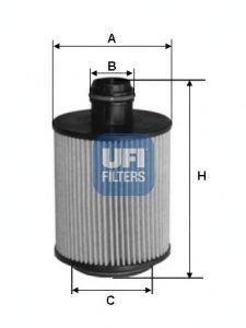 Масляный фильтр UFI 25.093.00