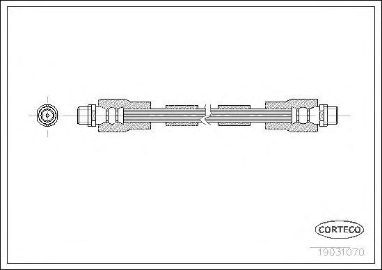 Тормозной шланг CORTECO 19031070