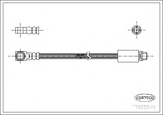 Тормозной шланг CORTECO 19032175