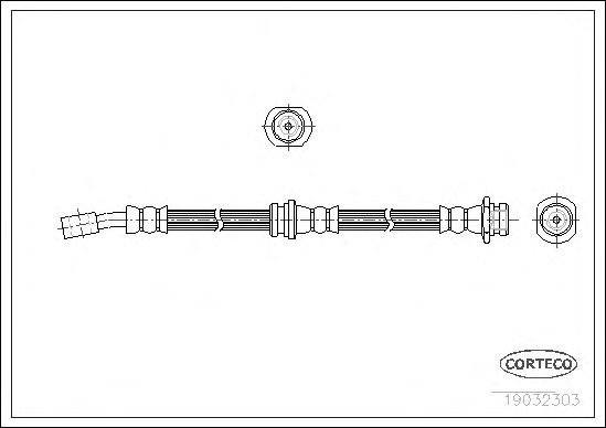 Тормозной шланг CORTECO 19032303