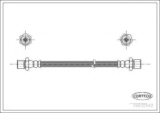 Тормозной шланг CORTECO 19032542