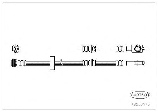 Тормозной шланг CORTECO 19033513