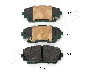 Тормозные колодки JAPANPARTS PA-K23AF
