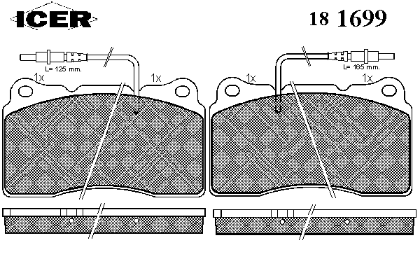 Тормозные колодки ICER 181699
