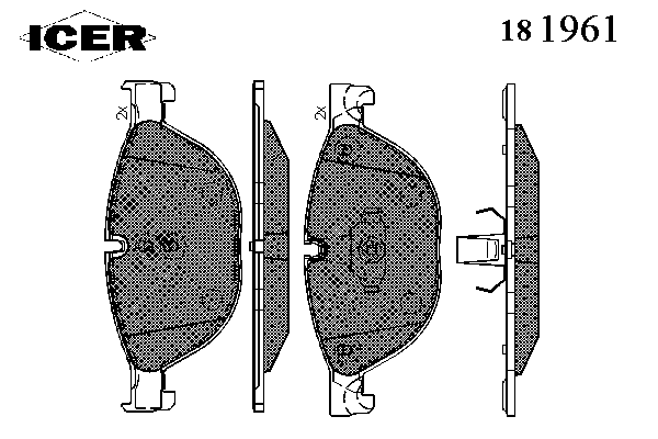 Тормозные колодки ICER 181961