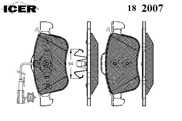 Тормозные колодки ICER 182007