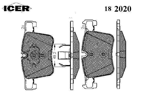 Тормозные колодки ICER 182020