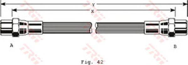Тормозной шланг TRW PHA130
