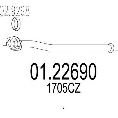 Труба выхлопного газа MTS 01.22690