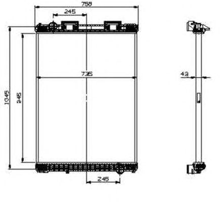 Радиатор, охлаждение двигателя NRF 519537