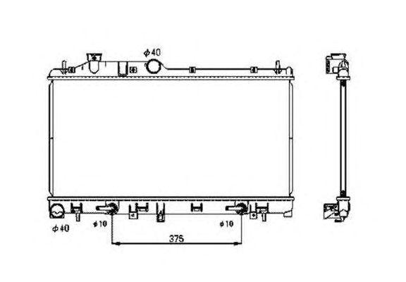Радиатор, охлаждение двигателя NRF 53700