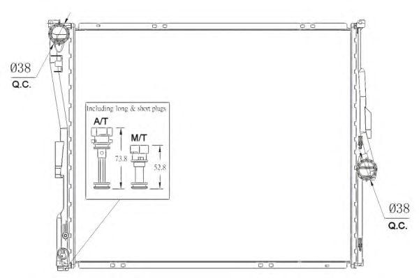 Радиатор, охлаждение двигателя NRF 53956