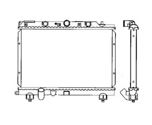 Радиатор, охлаждение двигателя NRF 55307