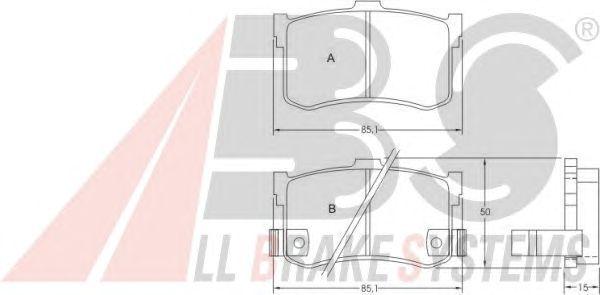 Тормозные колодки A.B.S. 36627