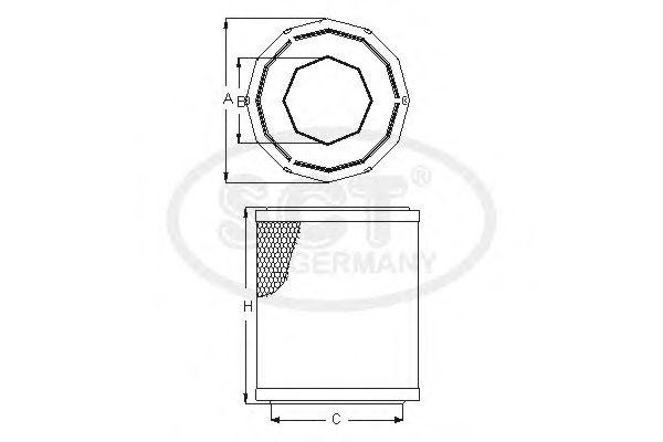 Воздушный фильтр SCT Germany SB 2220