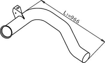 Труба выхлопного газа DINEX 22157