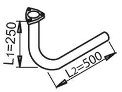 Труба выхлопного газа DINEX 53284