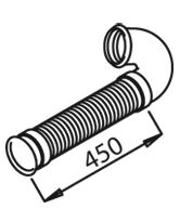 Труба выхлопного газа DINEX 21177