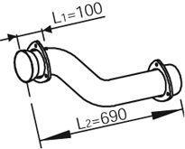 Труба выхлопного газа DINEX 82162