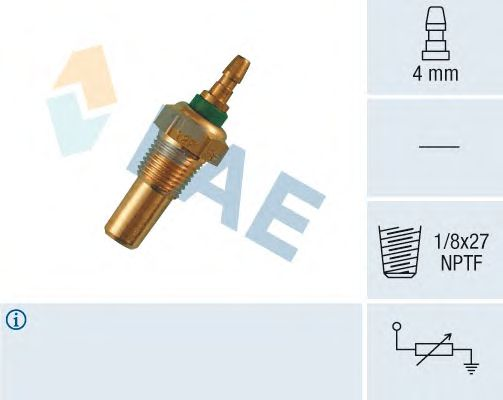 Датчик температуры охлаждающей  жидкости FAE 32470