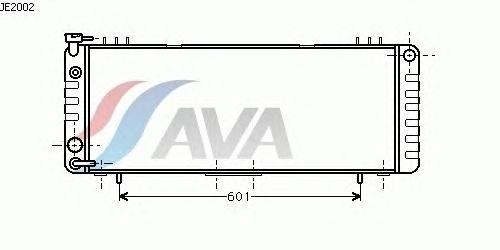 Радиатор, охлаждение двигателя AVA QUALITY COOLING JE2002