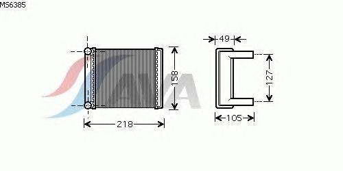 Радиатор отопителя AVA QUALITY COOLING MS6385
