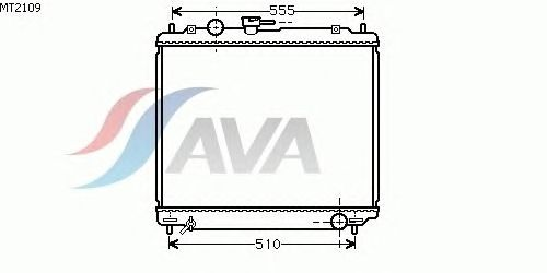 Радиатор, охлаждение двигателя AVA QUALITY COOLING MT2109