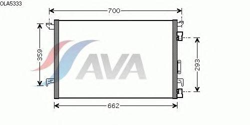 Радиатор кондиционера AVA QUALITY COOLING OLA5333
