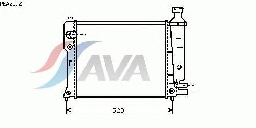 Радиатор, охлаждение двигателя AVA QUALITY COOLING PEA2092