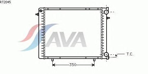 Радиатор, охлаждение двигателя AVA QUALITY COOLING RT2045