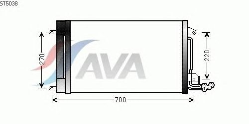 Радиатор кондиционера AVA QUALITY COOLING ST5038