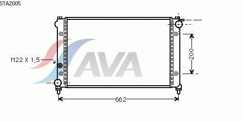 Радиатор, охлаждение двигателя AVA QUALITY COOLING STA2005