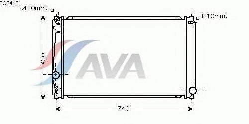 Радиатор, охлаждение двигателя AVA QUALITY COOLING TO2418