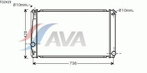 Радиатор, охлаждение двигателя AVA QUALITY COOLING TO2419